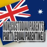 Australian flag - Non-Custodial Parents Party - medium