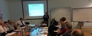 ALP Senator Joe Bullock, NCPP(EP) John Flanagan, LNP George Christiansen MP, convenor Warwick Marsh and Senator John Madigan at the bipartisan Parliamentary Family Law Roundtable held on 1 October 2014.
