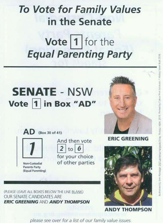 how to vote cards - nsw senate
