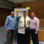 John Flanagan and Eric Greening from the NCPP(EP) with George Christensen MP in Canberra on 12 August 2015.